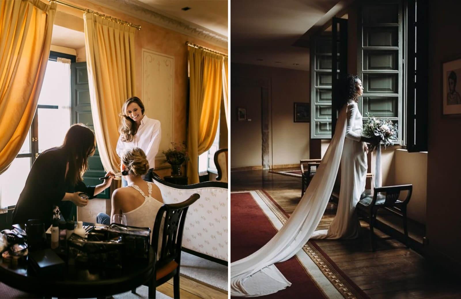 Preparación bodas al aire libre en Palacio de Avilés