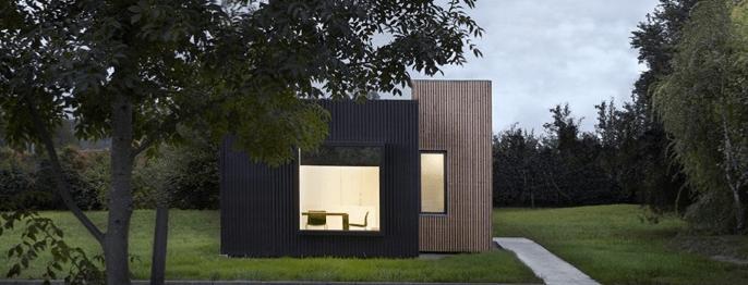Una habitación de diseño modular