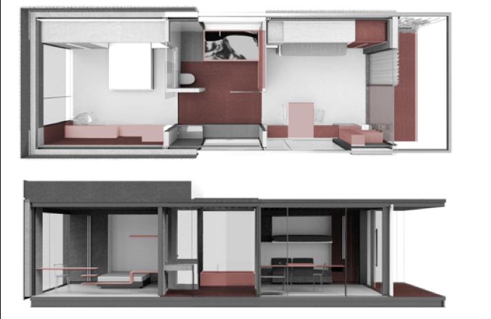 Una habitación modular como la 2030