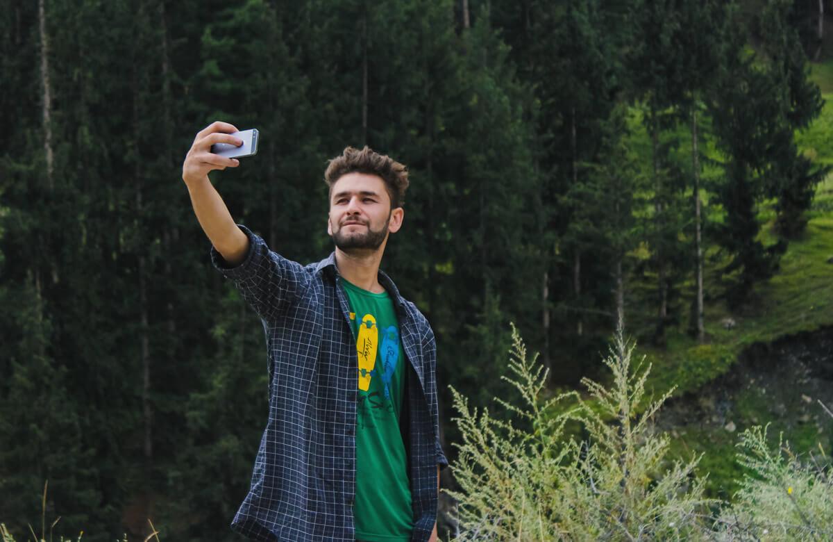 Tomar selfies en Asturias en plena naturaleza