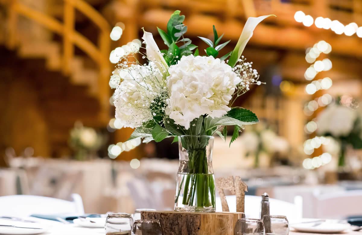 Decoración de una boda ecológica