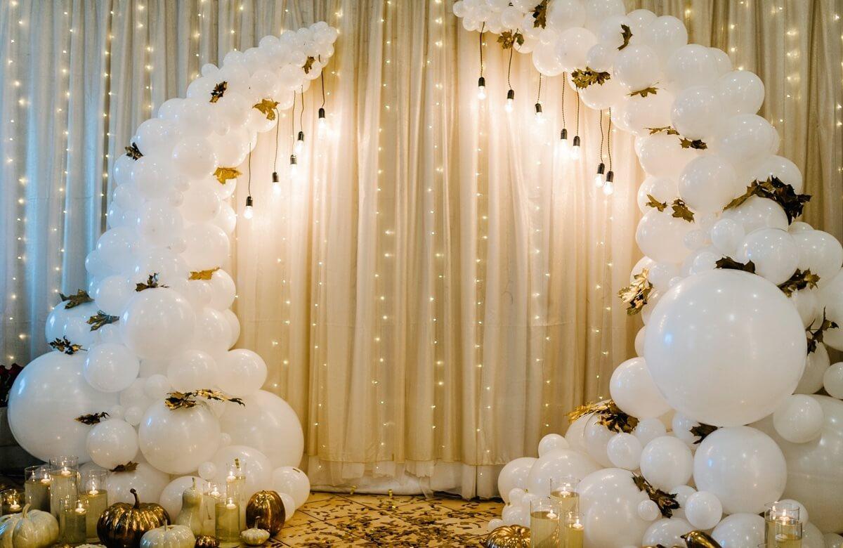 Decoración de una boda glam