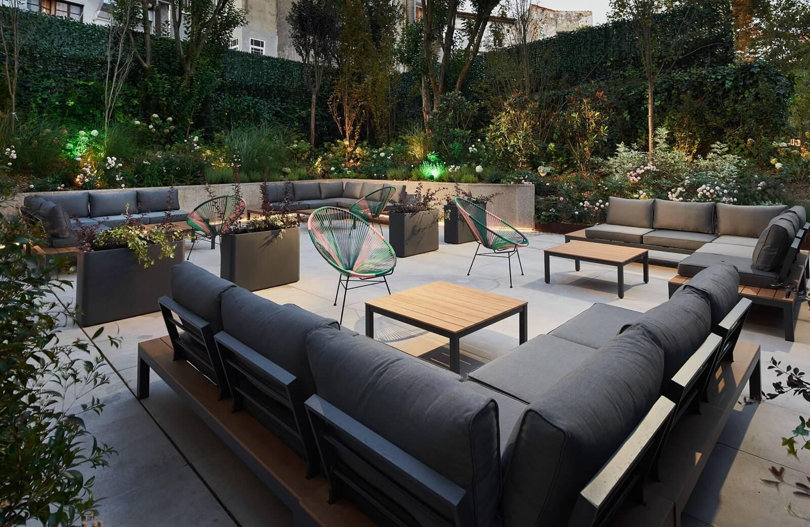 ambientes en terrazas al aire libre