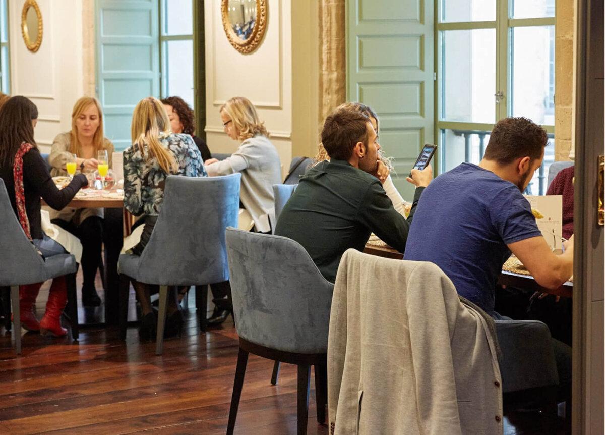 Salón del Restaurante La Capilla donde se organizan los brunch