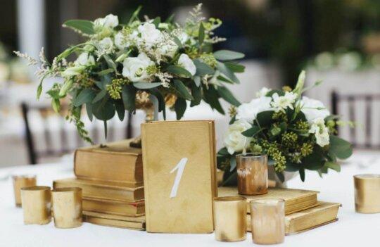 Ideas de decoración temática para mesas de bodas